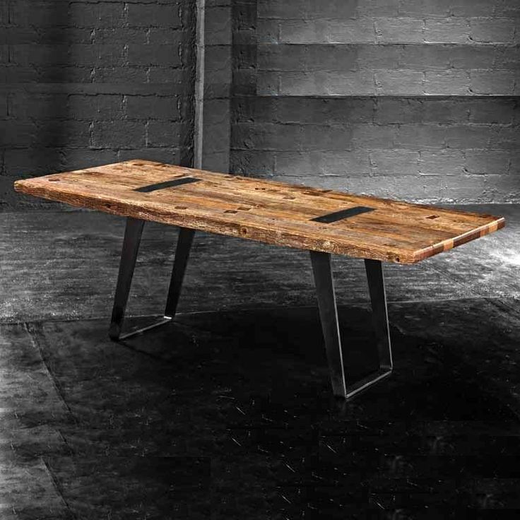 small metal kitchen table sets dining industrial tables canada wood legs