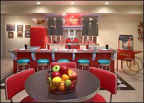 diner themed family room bar   50s diner decorating ideas 50s. 17 Best ideas about 50s Bedroom on Pinterest   1950s  Retro