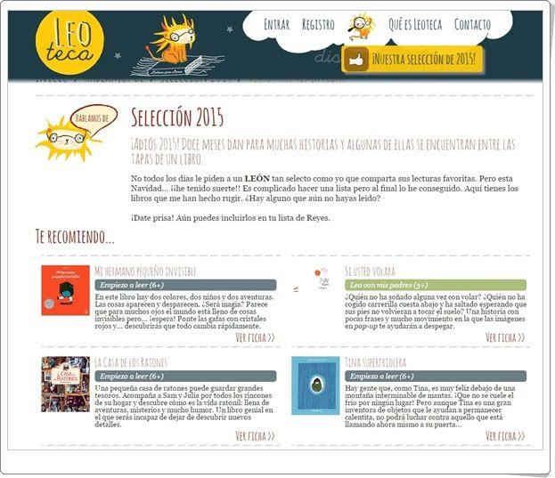 """Guía de lectura """"Selección 2015"""" de leoteca.es"""