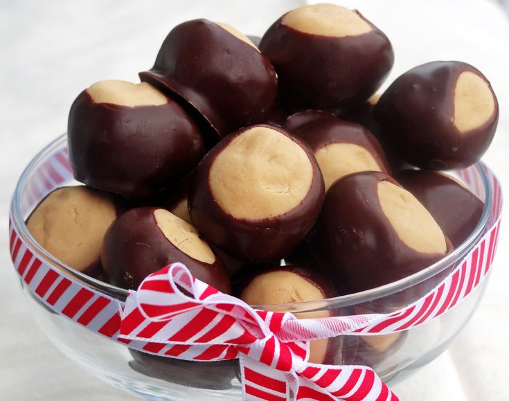buckeyes  This recipe uses wax in the chocolate.