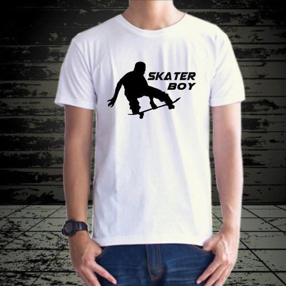 Skater boy design for tshirt by klikcklukc on Etsy