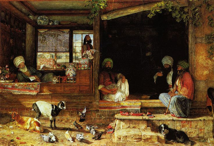 "Джон Фредерик Льюис (1804-1876 гг.)   ""Продавец кебаба"""