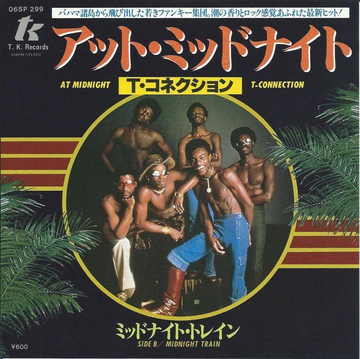 """バハマはナッソー発、マイアミT.K.のディスコ~ファンク・バンド「T-CONNECTION」の'78の3RDアルバム""""T-CONNECTION""""からのカット。LARRY LEVAN""""LIVE AT THE PRADISE GARAGE""""にも収録されたGARAGE CLASSICS""""AT MIDNIGHT""""!12インチは頭にロング・ディスコ・ブレイク搭載していますが、45""""は4:15のSHORTヴァージョンでブレイクはないものの入りも使い易く中盤のパーカッション込のブレイクもナイス~!四つ打ちのキックにファンキーなギター・カッティングが映えるミッド・ディスコ・ファンク""""MIDNIGHT TRAIN""""をカップリング!US盤とはカップリング違い、日本独自のレア・ピクチャー・ジャケ!"""