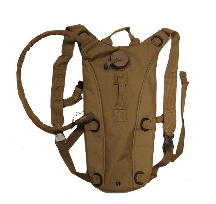Global Sportsman Tactical Hydration Pack Backpack Carrier With 2.5 Liter / 84 oz. Water Drinking Bladder Reservoir Capacity System Includes Hosing And Hands Free Bite Valve, Heavy Duty D-Rings, Storage Pocket, Adjustable Shoulder Strap & Emergency Carry Handle - Camping Hiking Outdoor Hunting Airsoft Bicycle Running Sports Military Army Patrol (Coyote Tan). Tactical Hydration Bladder Backpack + 2.5 Liter Water Bladder with Hosing. Bladder is Complete with Hosing and Hands Free Bite-Valve…