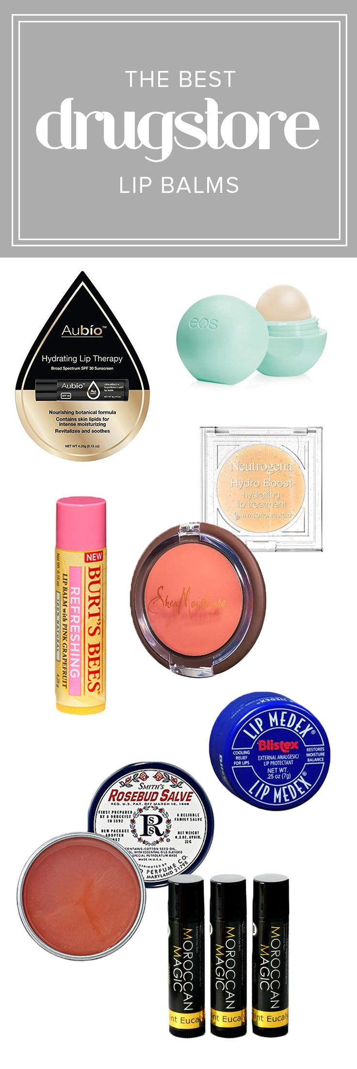 Get rid of chapped lips with these drugstore lip balms. These are the best lip balms with color, SPF and moisturizer.