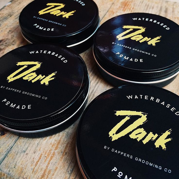Extra limited qty. Dark Pomade - Ringing gel heavy hold with medium shine green tea scent. #dappersgroomingco