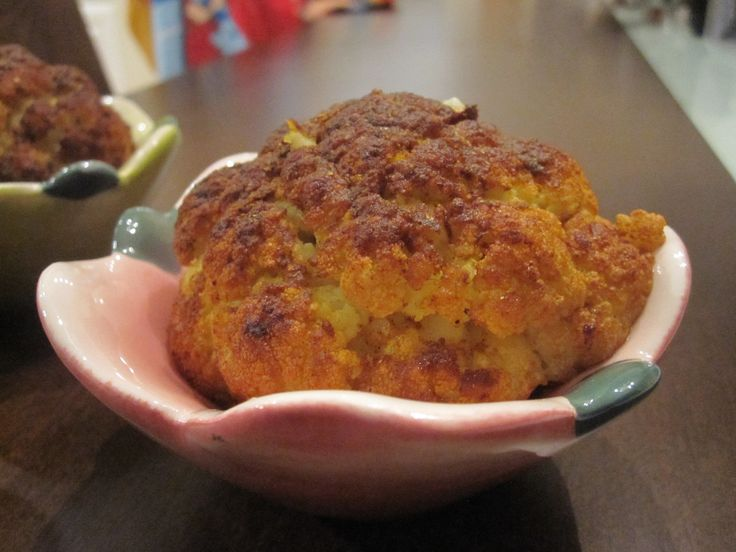 Whole baby roasted cauliflower