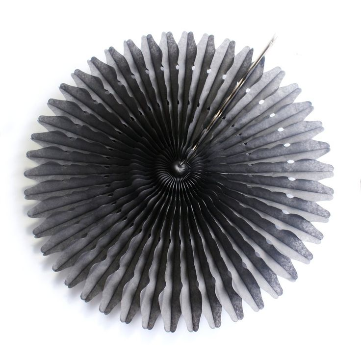 """21"""" Charcoal Tissue Fan.  Available at www.theprettybaker.co.nz"""