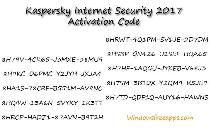 kaspersky internet security 2017 serial key