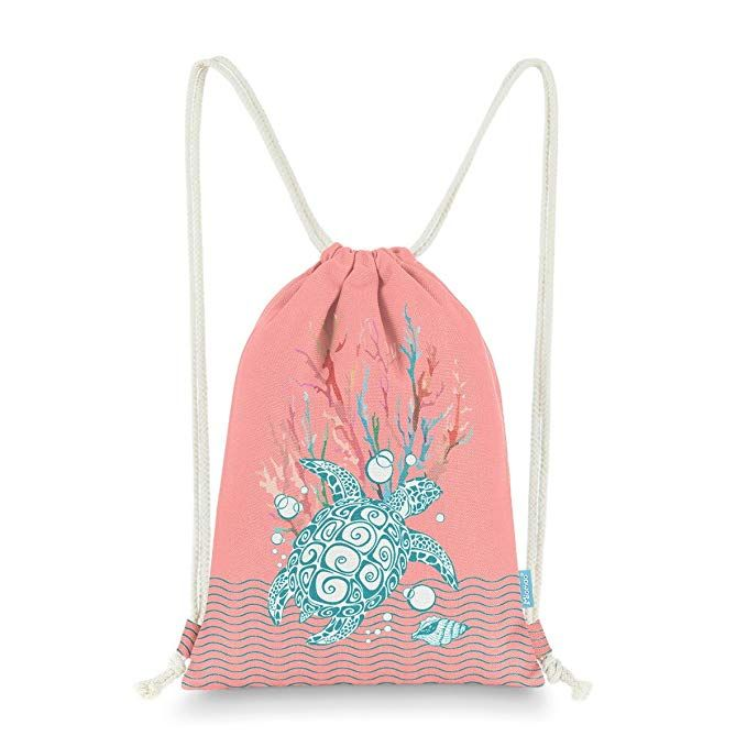 Accessories Gymsack Octopus Gold Print Drawstring Bags Simple Gym Shoulder Bags Drawstring Bags