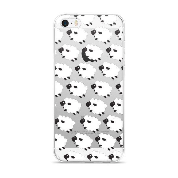 Counting Sheep Clear Transparent TPU iPhone Case - iPhone 5/5s/5se