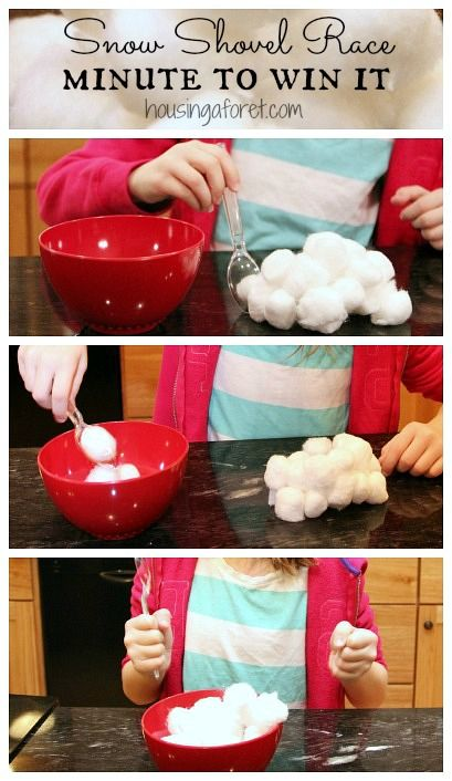 Winter Fun ~ Snow Shovel Race Minute to Win it Games Ready for one of our favorite winter Minute to Win it Games? For this simple indoor game, you can shovel snow with out going outside. Like all Minute to Win … Continue reading →