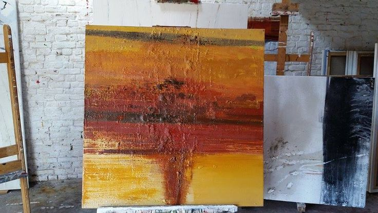 Original Painting Oil on #Canvas #Abstract #Art #Red #Yellow Pierre Debatty #Art #Abstract #BelgianArtists #Binnovart #ForSale Contact Us