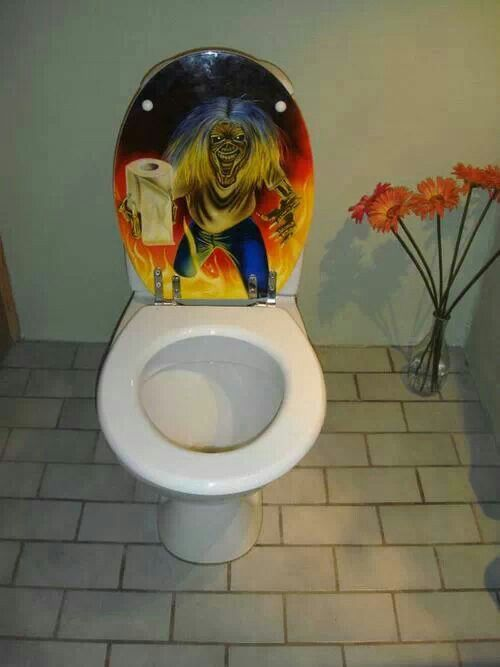 Iron Maiden Toilet Seat Iron Maiden Pinterest Heavy