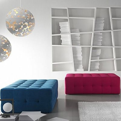 Flamboyant, ultramodern 'Brightier' pouf by Confort Line