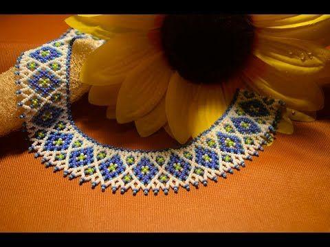 "Колье из бисера ""Магдалена"". Бисероплетение. Мастер класс / necklace of beads. Beading - YouTube"