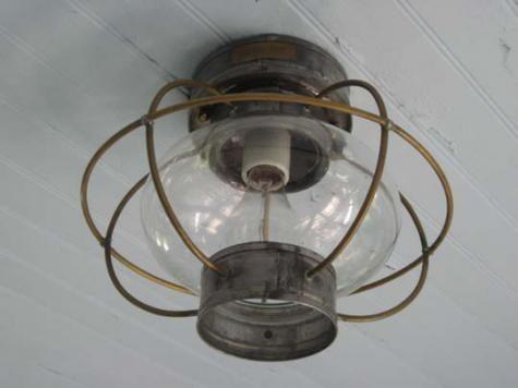 The Nauset Lantern Shop Onion Ceiling Lamp, $189