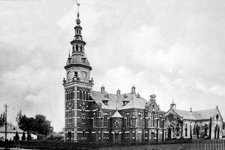 The new and old Dutch  Reformed Church,Pretoria in South Africa at Church St between Potgieter and Schubart Streets.   🌹