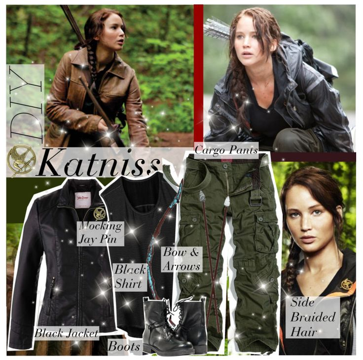 KATNISS EVERDEEN: Create this costume with cargo pants, black boots, a leather jacket, and a bow & arrows. And Katniss wouldn't be Katniss without her Mocking Jay pin and signature braid, so don't forget those essentials! Click through for a complete list of THE most popular Halloween costumes.