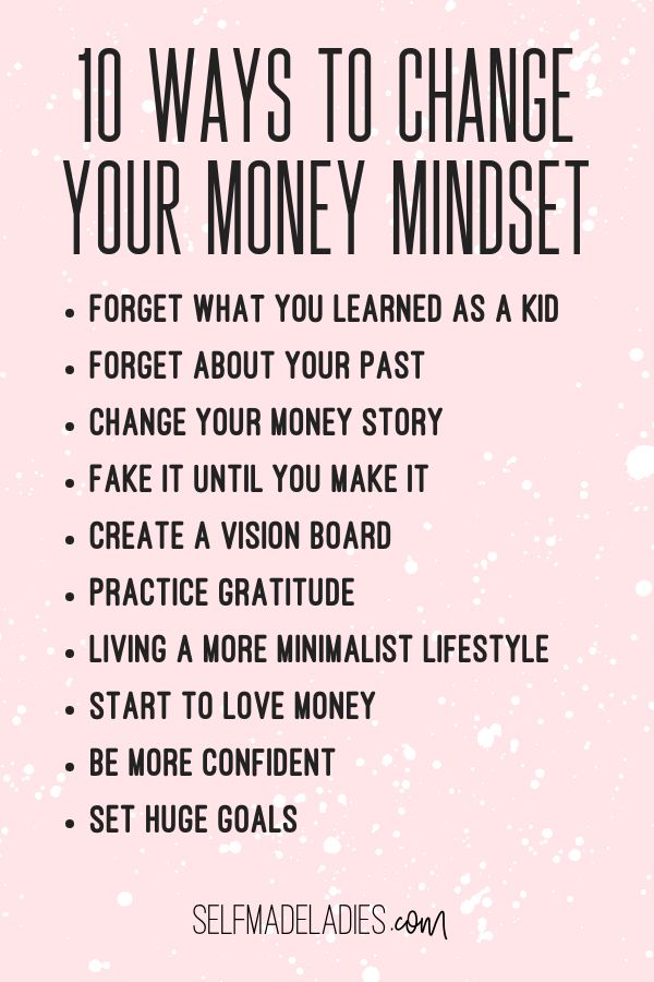 Learn 10 ways to change your money mindset, money mindset tips for women, money … – Money Mindset for Women