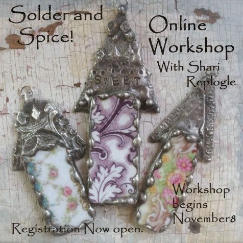 Solder And Spice  Online Mixed Media Metal Jewelry by primology, $65.00