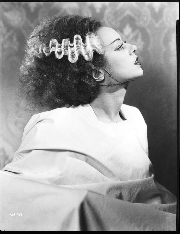 "Elsa Lanchester en ""La novia de Frankenstein"", 1935"