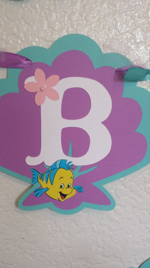 Little Mermaid Banner Party Birthday Banner от CnCpartycreations