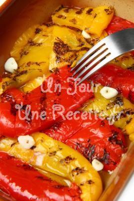 Photo de la recette Poivrons marinés à l'ail