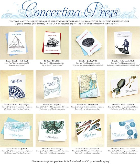 Nice Concertina Press Offers A Line Of Wholesale Cards, Including Boxed Nautical  Thank You Notes, Blank Cards Featuring Cape Cod And Rhode Island Maps A.