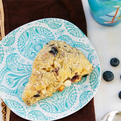 Blueberry White Chocolate Buttermilk Scones - Sarah's Cucina Bella