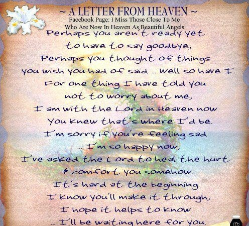 a letter to my husband in heaven quot letter from heaven quot in memory of for my amp 28807 | 44de8eb9879cf261bf6166ce43a2891f