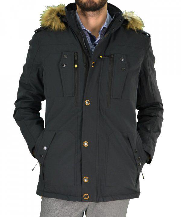 Ανδρικό τεχνικό μπουφάν Jacket Inox μαύρο 16543J #χειμωνιατικαμπουφαναντρικα #εκπτωσεις #προσφορες #menjacket