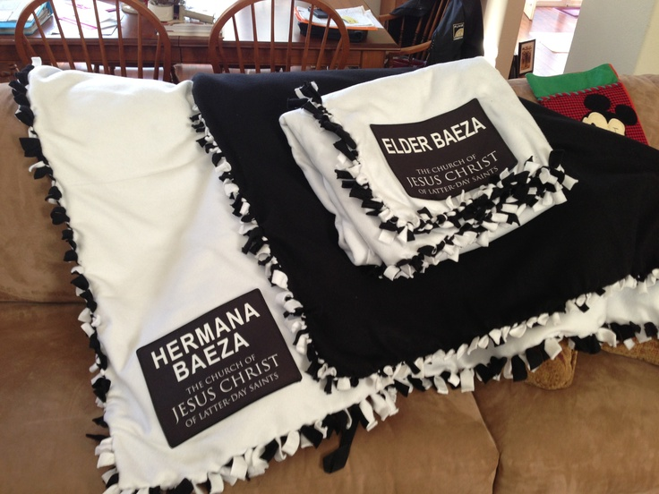 Thank you to my sweet friend for making these special blankets for my two Missionaries!!!