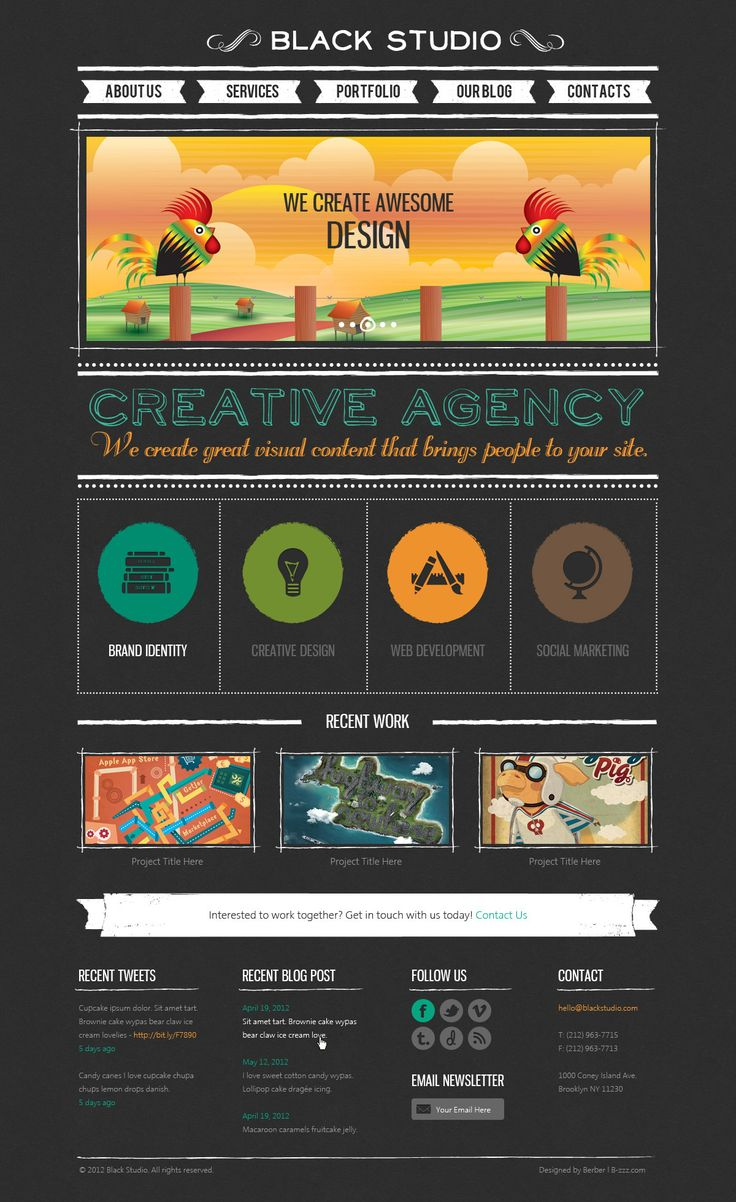 Cute Creative Agency Website Design
