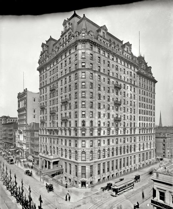 "New York circa 1904. ""Hotel Manhattan, Madison Avenue and 42nd Street."""