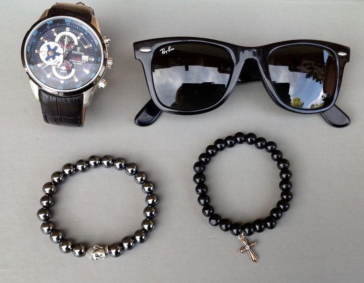 bracelet homme bouddha en Hématite .qualité superieure : Bijoux pour hommes par made-with-love-in-aiacciu