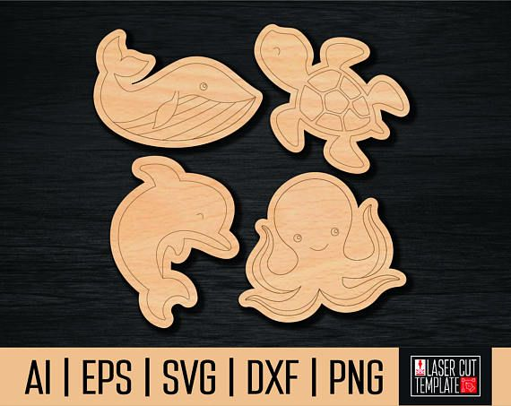 Children's toy from plywoodsea animals svg cut template