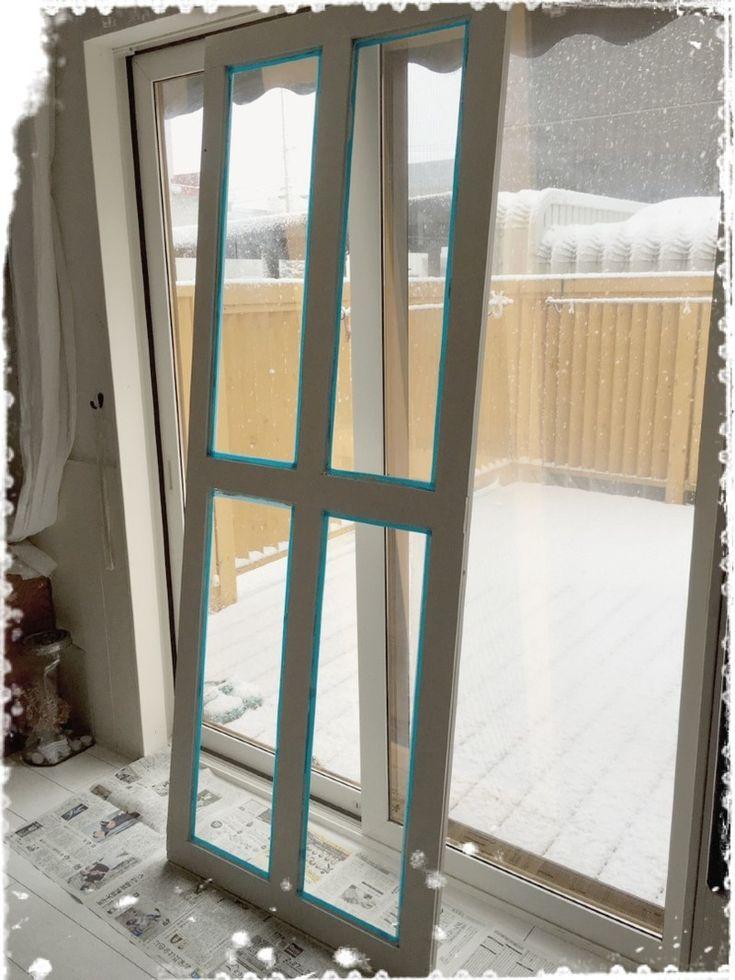 ベランダ窓枠、扉をDIY