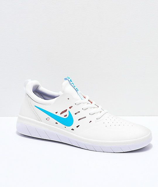 outlet store 6a2ba e06f0 Nike SB Nyjah Free Summit White, Blue   Red Skate Shoes