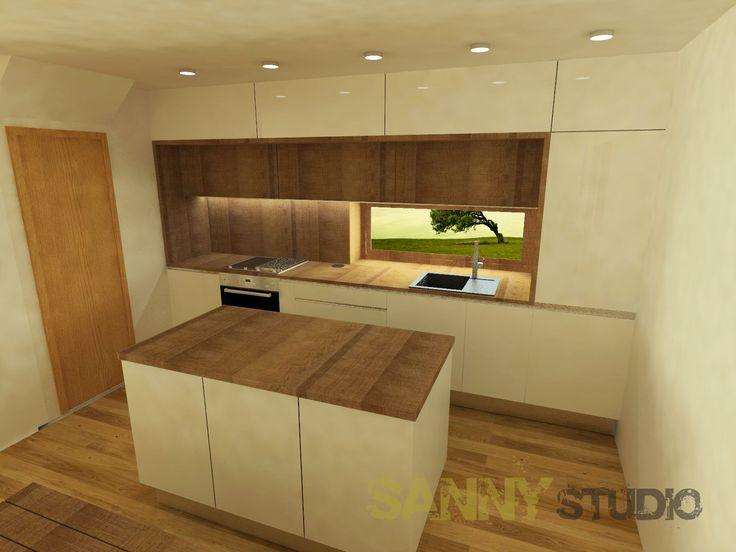 Návrh kuchynskej linky do moderného interiéru.