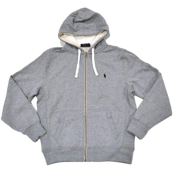 Polo Ralph Lauren Classic Full-Zip Fleece Hooded Sweatshirt featuring polyvore, women's fashion, clothing, tops, hoodies, polo, jackets - girls, jackets - guys, sweatshirt hoodies, full-zip hooded sweatshirt, polo full zip hoodie, full zipper hoodie and polo tops