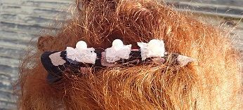 Large cottage chic hair clip.Original handcrafted. by SortThePost, $20.00