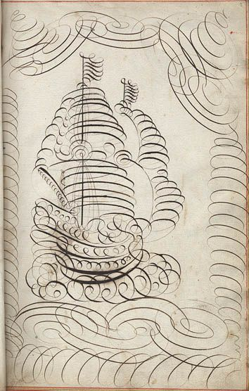 An illustrated ship of flourish.: Calligraphy Tattoo, Exercise Books, Sarah Cole, Arithmet Exercise, Folk Art, Vintage Boats, Exerci Books, Ships, Posters Fonts