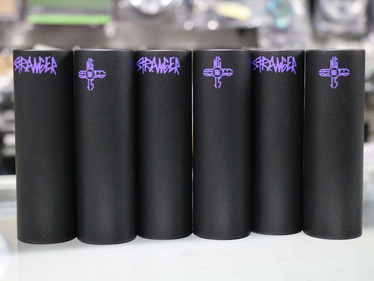 "Nate Richter's signature Stranger Zia 4.75"" pegs. Now available. #BMX #strangerbmx"