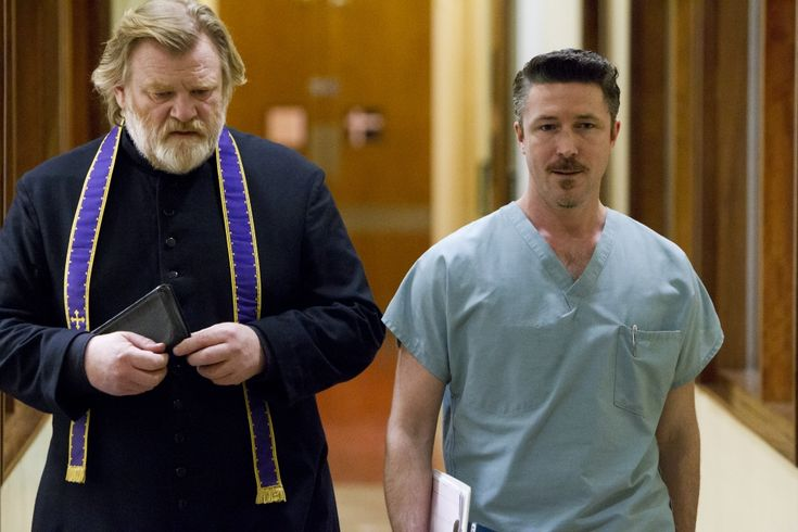 Aiden Gillen and Brendan Gleeson in Calvary