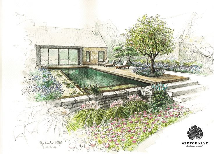 Best Sketches And Designs Garden Images On Pinterest