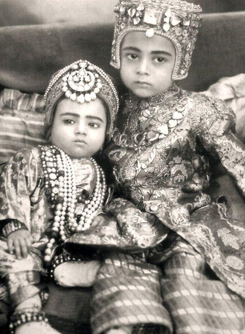 Sahebzada Salabath Jah  Sahebzadi Ahmed Unnisa, son and daughter of The Nizam VI. circa. 1910