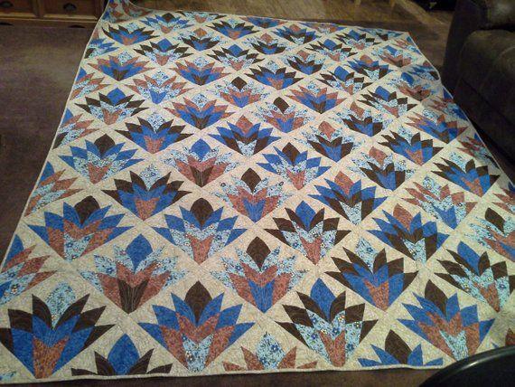 Cleopatra Fan Twins size quilt