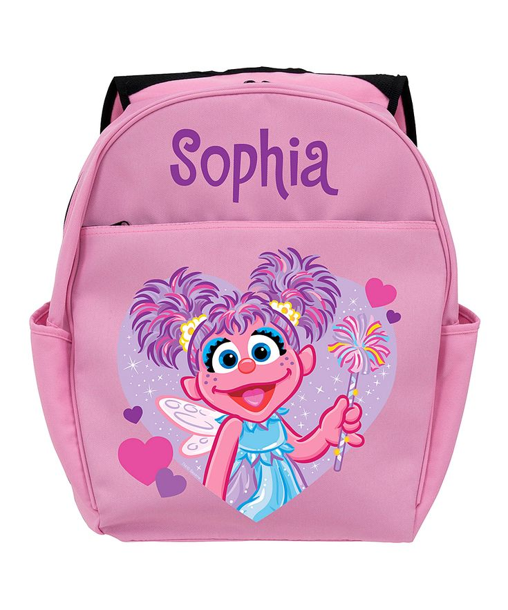 Pink Sesame Street Abby Cadabby Twinkle Personalized Backpack