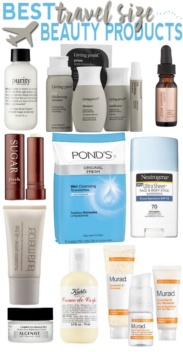 Best #travel size beauty products to fit into your 3-1-1 TSA friendly bag!